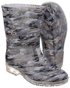 Detalles de Cotswold PVC Camuflaje Impermeable Niño Botas de Agua Botas Agua UK4 13