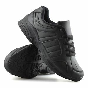 Boys-Kids-Casual-Smart-Formal-Lace-Up-Back-To-School-Sports-Trainers-Shoes-Size