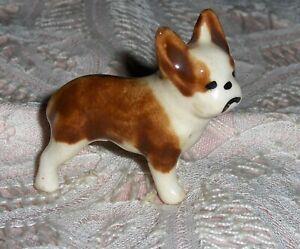 Vtg-Miniature-Grindley-Ohio-Dog-Figurine-Porcelain-French-Bulldog-Puppy-Dog