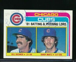 1982 Topps #456 Cubs checklist multi signed Lee Smith & Mel Hall Leon Durham