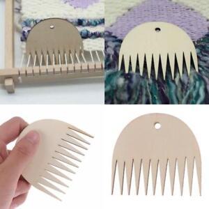 Holzwebstuhl-Webkamm-fuer-DIY-gewebte-Strickwaren-geflochtene-Werkzeuge-Webstuhl