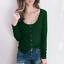 Women-Long-Sleeve-Scoop-Neck-Button-Tops-Casual-Slim-Basic-T-Shirt-Jumper-Blouse thumbnail 5