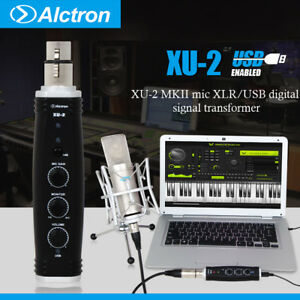 digital audio interface mic xlr usb signal transform converter 48v phantom power ebay. Black Bedroom Furniture Sets. Home Design Ideas