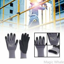 5 Pairs Pu Nitrile Safety Work Gloves Garden Home Gloves Mechanic Working Gloves