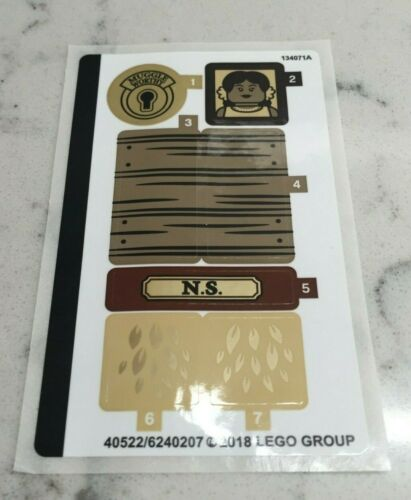 LEGO STICKER SHEET for 75952 Newt/'s Case of Magical Creatures New /& Genuine.