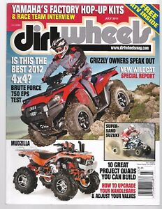 Details About Dirt Wheels Magazine July 2011 Can Am Ds250 Kawasaki Brute Force 750