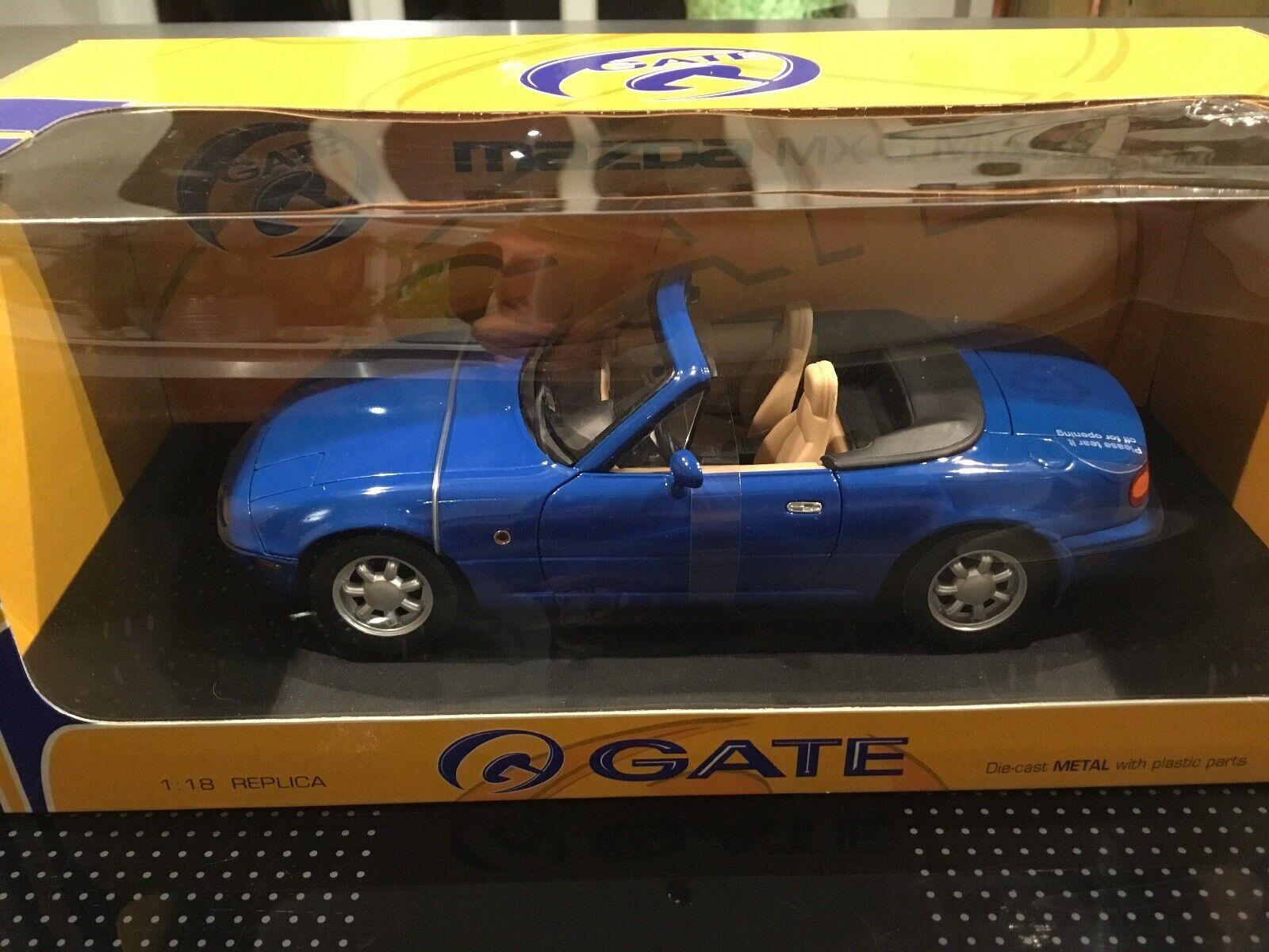 Mazda mx-5 Miata bleu dans neuf dans sa boîte, 1 18 Gate, première génération, RAR.