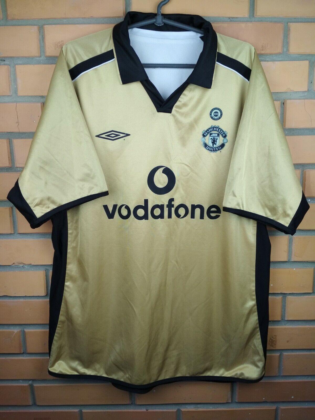 Manchester United Centenario Jersey Camisa 2002 XL 2001 Fútbol Fútbol Umbro