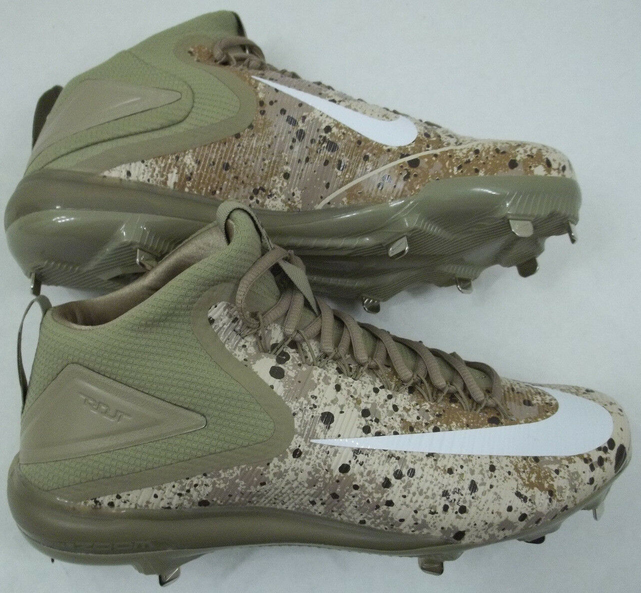 NEW Nike Trout 3 Men's Size 12 Force Zoom Baseball Cleat Desert Camo 856503-212