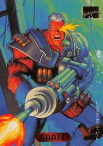 CABLE-1994-Marvel-Masterpieces-Fleer-BASE-Trading-Card-17