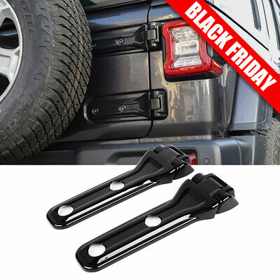 Hoolcar Spare Tire Bracket Liftgate ABS Tailgate Hinge Cover for 2018-2020 Jeep Wrangler JL JLU Pink 4 PCs