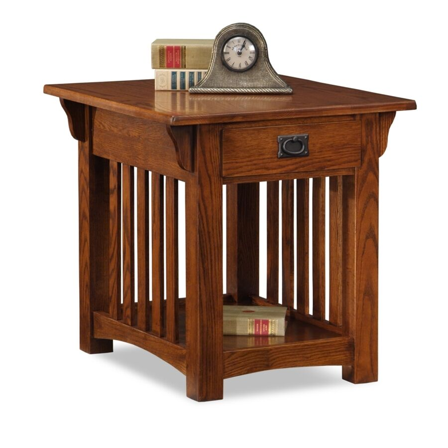 mission style end tables Leick Furniture 8207 Medium Oak Mission Style End Table | eBay mission style end tables