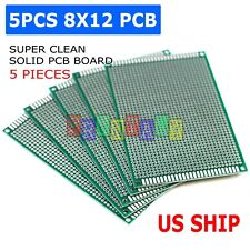 5pcs 8x12 Diy Prototyping Board Pcb Printed Circuit Prototype Breadboard Arduino