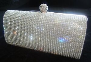Natale festa nozze frizione sera nozze da argento Diamante di borsa borsa di 77w6fUx