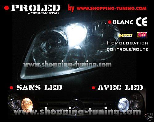 2 VEILLEUSES LED FEUX XENON BMW 318 320 325 330 I CI CD