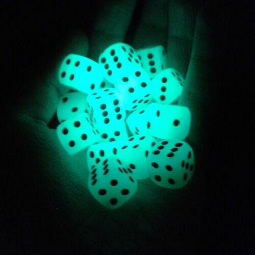 4X14mm Filet Pips leuchtende Würfel 6 Seite für Brettspiel Night Bar ZG