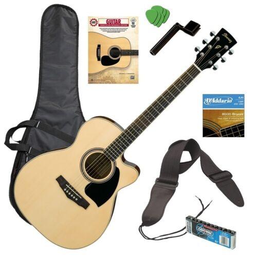 Ibanez PC15ECE Acoustic-Electric Guitar - Natural GUITAR ESSENTIALS BUNDLE