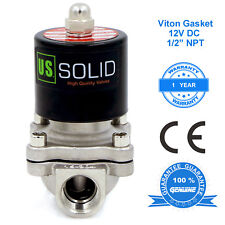 U S Solid 12 Stainless Steel Electric Solenoid Valve 12v Dc Normally Closed