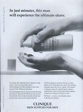 "Clinique Skin Supplies For Men ""Shave Aloe Gel"" 1998 Magazine Advert #4451"
