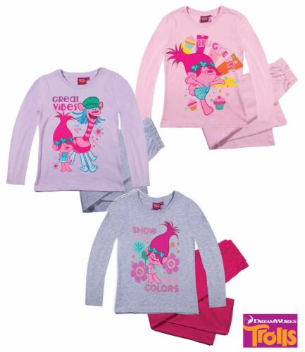 Pyjama Set SONNO TUTA RAGAZZA i TROLLS Rosa Rosa Grigio 104 116 128 140 152 #24
