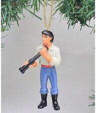 "Disney Little Mermaid Prince Eric Christmas Holiday Ornament PVC Figurine ~ 2.5"""