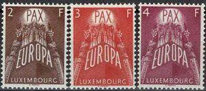 Lussemburgo LUXEMBOURG 1957 Europa frase posta FRESCHI MNH ** kw:120 €
