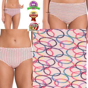 49dd919fd3 03 Pack JOCKEY Women s Hipster Panties Comfort Style   1406 Print ...