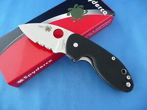 Spyderco-C246GPS-Insistent-Knife-Black-G-10-8Cr13MoV-Combo-Edge-Collector-156V