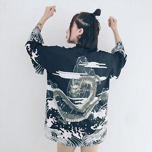 Japones-Harajuku-DULCE-LOLITA-Kimono-Holgado-Estampado-albornoz-chaqueta