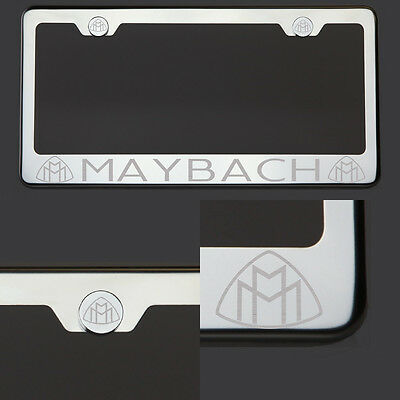 T304  Chrome Polished Lexus  Laser Etched Engraved License Plate Frame Screw Cap
