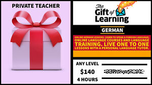 Gift Card German Language Course With Private Tutor With Discount Ebay