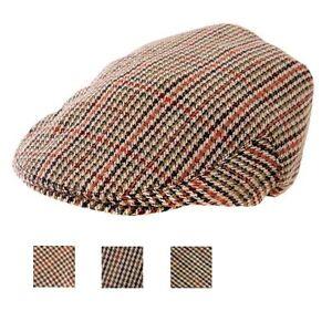 Mens-Ladies-Childrens-Tweed-Country-Flat-Cap-8-Sizes