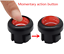 7 x Motorcycle Momentary Buttons Switch Control For start kill turn signal Horn