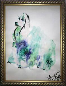 Margarita-Bonke-Original-A3-Malerei-PAINTING-art-abstrakt-abstract-Bild-dog-hund
