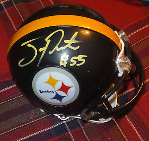 JOEY PORTER Steelers Autographed Mini Helmet including BDS COA #1838