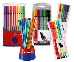 Stabilo-Pen-68-Fibre-Felt-Tip-Adult-Colouring-1-0mm-Pens-All-Pack-Sizes
