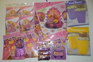 Details About Rapunzel Princess Huge Lot Birthday Party Decorations Invitations Candle Set