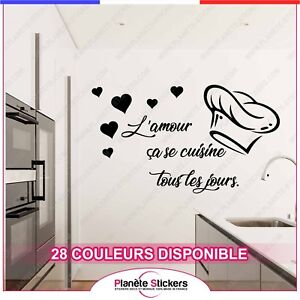 Stickers Quote Kitchen Love Sticker Wall Tous Les Days