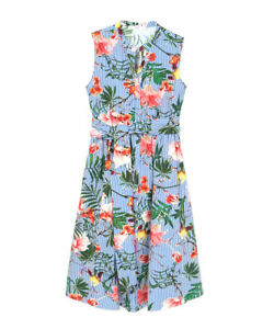 para Mango Xs 6 con verano Vestido Unido Reino rayas de rayas de mujer de a estampado Eu azavq