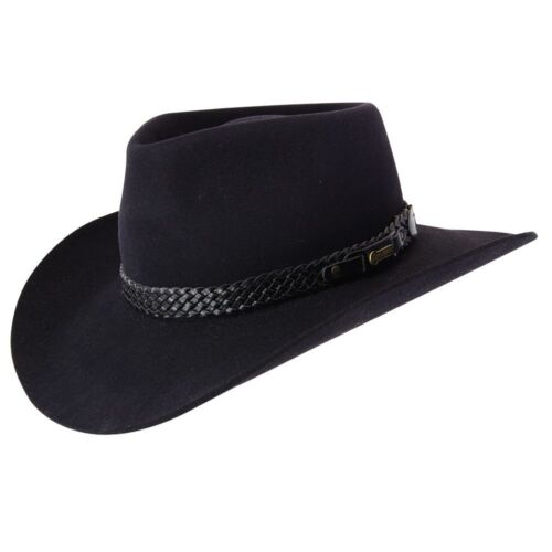 Black Akubra Snowy River Hat