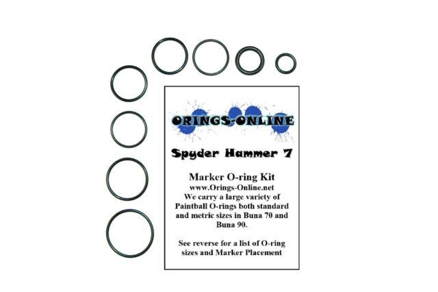 Spyder Hammer 7 Paintball Marker O-ring Oring Kit x 4 rebuilds / kits