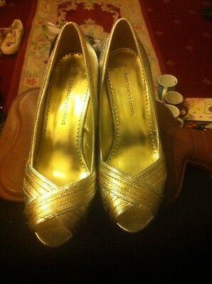 Señoras-Plata Metálico 4 Tacón Fiesta/zapatos de baile por Dorothy Perkins-tamaño 5-fab!!!