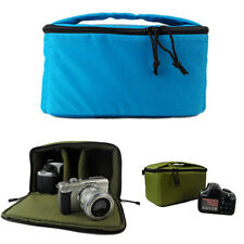 Waterproof DSLR SLR Camera Insert Padded Partition Blue Camera Bag With Handle