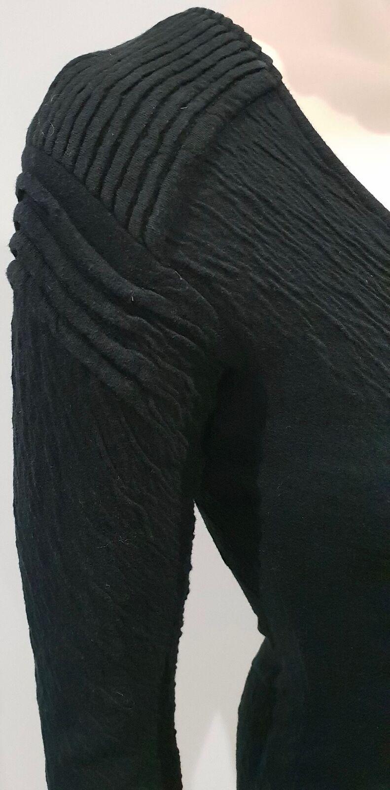 COTONE COTONE COTONE Nero ANNE FONTAINE jeseywear Stretch Bodycon Mini Abito 38 UK8 89d36a