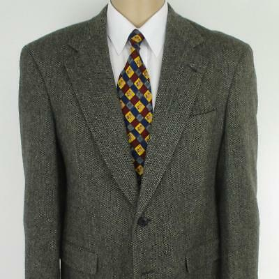 38 R 40 R Austin Reed Gray Tweed Pure Wool Mens 2 Btn Jacket Sport Coat Blazer Ebay