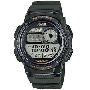 Casio-AE-1000W-3A-Military-Green-Unisex-Digital-Sports-Watch-with-Casio-Box