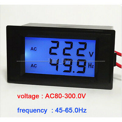 AC voltmeter frequency AC 80-300V/ 50Hz/60Hz LCD Digital Frequenz voltage meter