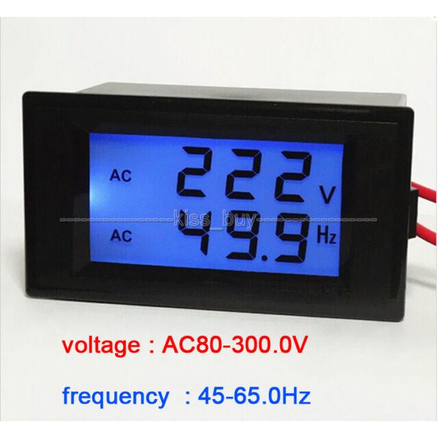 AC voltmeter frequency AC 80-300V/ 50Hz/60Hz LCD Digital Frequenz voltage meter