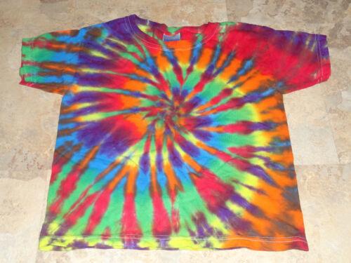 Hippie Kids Tie Dye Dyed  Short Sleeve Tshirt 2T 3T 4T XS Small Medium Large XL