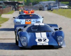 Lola T 70 Ford Gt40 Vintage Classic Gt Race Car Photo Ca 0607 Ebay